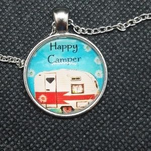Happy Camper Necklace With 20 Inch Chain